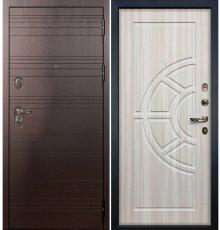 Дверь Легион Ясень шоколадный / Сандал белый (панель №44)