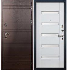 Дверь Легион Ясень шоколадный / Белый ясень (панель №34)