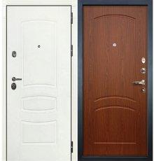 Дверь Сенатор 3К Белая шагрень / Береза мореная (панель №11)