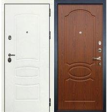 Дверь Сенатор 3К Белая шагрень / Береза мореная (панель №12)
