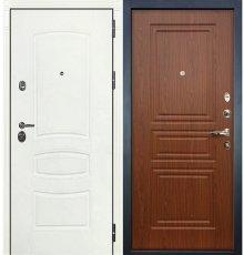 Дверь Сенатор 3К Белая шагрень / Береза мореная (панель №19)