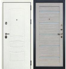 Дверь Сенатор 3К Белая шагрень / Клеопатра Ясень кремовый (панель №66)