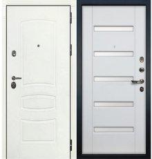 Дверь Сенатор 3К Белая шагрень / Ясень белый (панель №34)