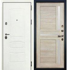 Дверь Сенатор 3К Белая шагрень / Баджио Кремовый ясень (панель №49)