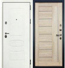 Дверь Сенатор 3К Белая шагрень / Верджиния Кремовый ясень (панель №40)