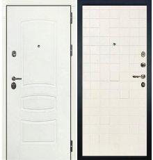 Дверь Сенатор 3К Белая шагрень / Белый ясень (панель №56)