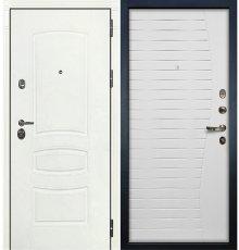 Дверь Сенатор 3К Белая шагрень / Волна Белый ясень (панель №36)