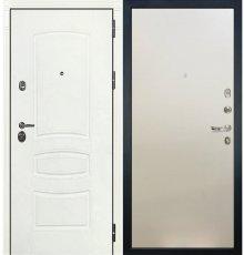 Дверь Сенатор 3К Белая шагрень / Белый ясень (панель №62)