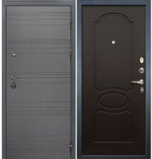Дверь Сенатор 3К Графит софт / Венге (панель №13)