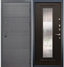 Дверь Сенатор 3К Графит софт / с зеркалом Венге (панель №22)