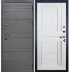 Дверь Сенатор 3К Графит софт / Баджио Беленый дуб (панель №47)