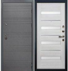 Дверь Сенатор 3К Графит софт / Сицилио Беленый дуб (панель №46)