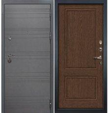 Дверь Сенатор 3К Графит софт / Энигма Орех (панель №57)