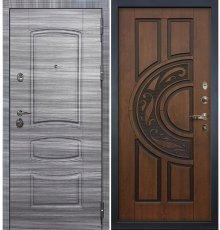 Дверь Сенатор 3К Сандал серый / Голден патина черная (панель №27)