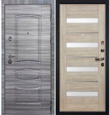 Дверь Сенатор 3К Сандал серый / Сицилио Ясень кремовый (панель №48)