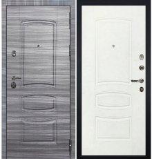 Дверь Сенатор 3К Сандал серый / Белая шагрень (панель №68)