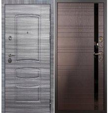 Дверь Сенатор 3К Сандал серый / Ясень шоколад (панель №31)