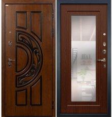 Дверь Спартак CISA / с зеркалом Береза мореная (панель №30)