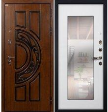 Дверь Спартак CISA / с зеркалом Белый ясень (панель №37)