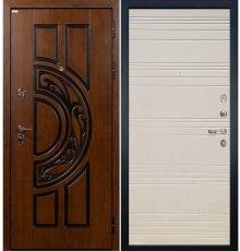 Дверь Спартак CISA / Дуб фактурный крем (панель №63)