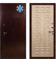 Дверь с терморазрывом Сибирь 3К / Беленый дуб (панель №20)