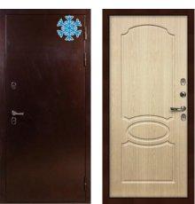 Дверь с терморазрывом Сибирь 3К / Беленый дуб (панель №14)