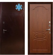 Дверь с терморазрывом Сибирь 3К / Береза мореная (панель №12)
