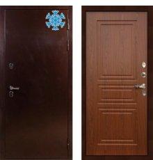 Дверь с терморазрывом Сибирь 3К / Береза мореная (панель №19)