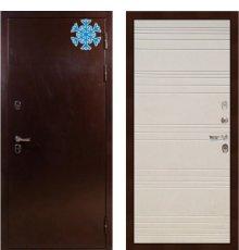 Дверь с терморазрывом Сибирь 3К / Дуб фактурный крем (панель №63)