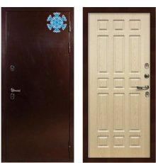 Дверь с терморазрывом Сибирь 3К / Беленый дуб (панель №28)