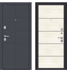 Дверь Браво Porta S 10.П50 Graphite Pro/Nordic Oak
