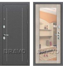 Дверь Браво Т2-220 Антик Серебро/Cappuccino Veralinga