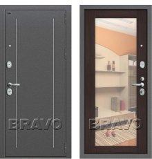 Дверь Браво Т2-220 Антик Серебро/Wenge Veralinga