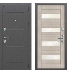 Дверь Браво Т2-223 Антик Серебро/Cappuccino Veralinga/White Pearl