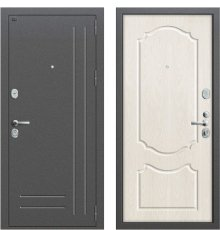 Дверь Браво Р2-210 Антик Серебро/П-25 (Беленый Дуб) фото