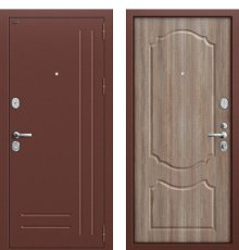 Дверь Браво Р2-210 Антик Медь/П-1 (Темный Орех) фото