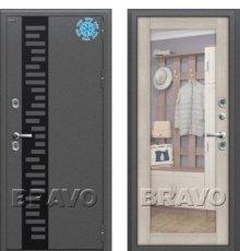 Дверь Браво  Термо 220 Антик Серебро/Cappuccino Veralinga