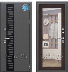 Дверь Браво Термо 220 Антик Серебро/Wenge Veralinga