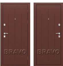 Дверь Браво Стройгост 7-2 Антик Медь/Антик Медь