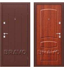 Дверь Браво Стройгост 7-2 Антик Медь/М-11 (ИталОрех)