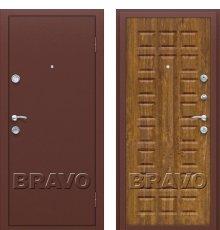 Дверь Браво Йошкар Антик Медь/П-17 (Золотистый Дуб) фото