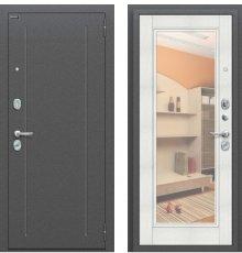 Дверь Браво  ФлэшАнтик Серебро/Bianco Veralinga