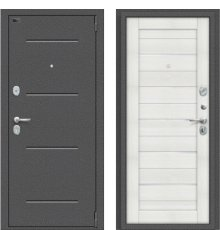 Дверь Браво Porta S 104.П22 Антик Серебро/Bianco Veralinga