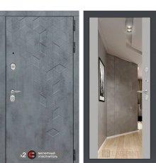 Дверь Бетон с зеркалом Максимум - Софт Грей