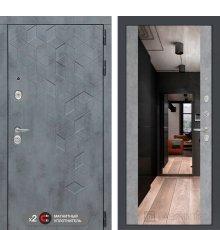 Дверь  Бетон с зеркалом Максимум - Бетон светлый