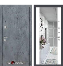 Дверь Бетон с зеркалом Максимум - Белый софт