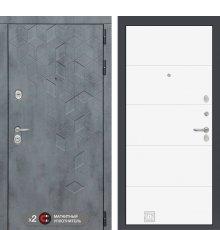 Дверь Бетон 13 - Белый софт