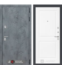 Дверь Бетон 11 - Белый софт фото