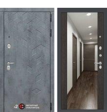 Дверь Бетон с зеркалом Максимум - Венге