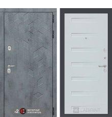 Дверь Бетон 14 - Дуб кантри белый горизонтальный